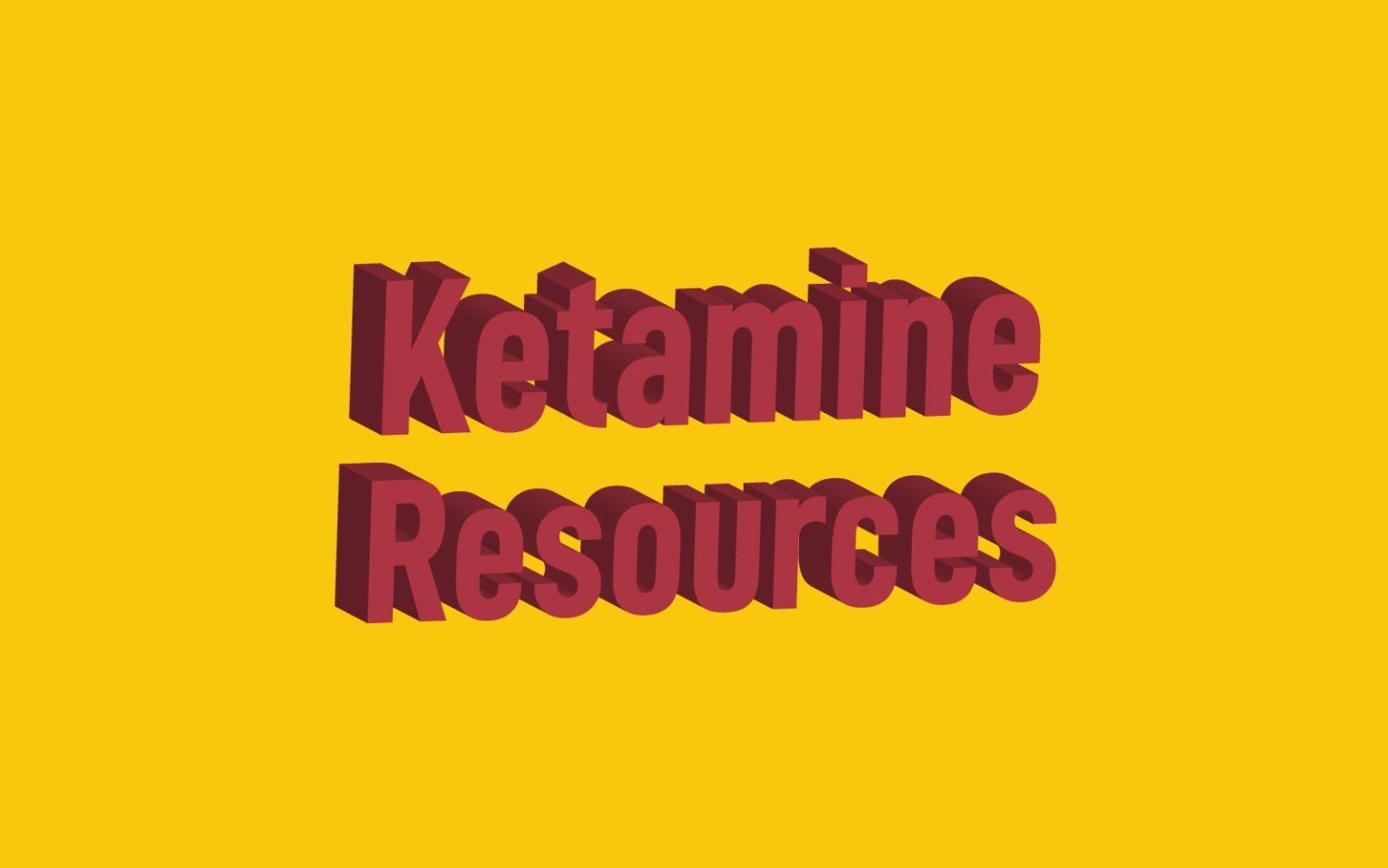 Ketamine Resources